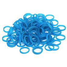 Paw Marks Latex Bands - profesjonalne, bardzo wytrzymałe lateksowe gumki, grube, 9.5 mm, 1000 sztuk, kolor turkusowy