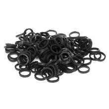 Paw Marks Latex Bands - profesjonalne, bardzo wytrzymałe lateksowe gumki, średnie, 6.3 mm, 1000 sztuk, kolor czarny
