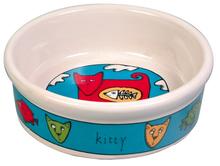 TRIXIE miska ceramiczna dla kota w zabawne wzory kotów.