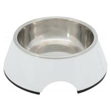 TRIXIE Melaminowa miska dla psa w kolorze białym