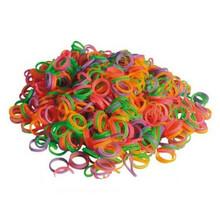 Show Tech - gumki do papilotów mix kolorów, średnica 0.8 cm, średnie, 100 szt.