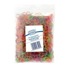 Show Tech - gumki do papilotów mix kolorów, cienkie, średnica 0.8 cm, 1000 szt.