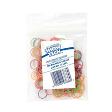 Show Tech - gumki do papilotów mix kolorów, cienkie, średnica 1 cm, 100 szt.