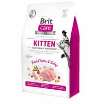 BRIT CARE CAT GRAN-FREE KITTEN HEALTHY GROWTH & DEVELOPMENT - hipoalergiczna karma dla kociąt