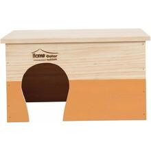 ZOLUX Domek drewniany Prostokąt, Home Color, kolor pomarańczowy