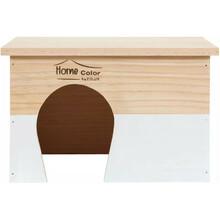 ZOLUX Domek drewniany Prostokąt, Home Color, kolor biały