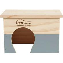 ZOLUX Domek drewniany Prostokąt, Home Color, kolor szary