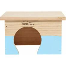 ZOLUX Domek drewniany Prostokąt, Home Color, kolor niebieski