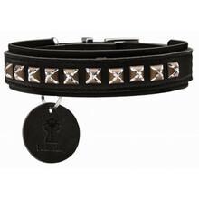 HUNTER Skórzana obroża dla psa Larvik Style Comfort, czarna