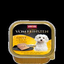 ANIMONDA Vom Feinsten Classic wołowiną, jajami i szynką szalka 150g [składnik zestawu]