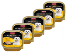 ANIMONDA Vom Feinsten z wołowiną, jajami i szynką 22 x 150g PAKIET - karma dla dorosłego psa, szalka