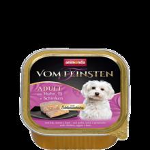 ANIMONDA Vom Feinsten Classic z kurczakiem, jajami i szynką szalka 150g [składnik zestawu]
