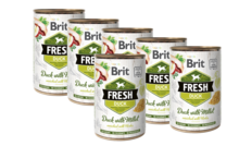 BRIT Fresh Duck with Millet PAKIET 12x400g mokra karma dla psa