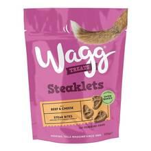 WAGG Steaklets Beef&Cheese - pyszne, półwilgotne mięsne przysmaki z wołowiną i serem, 125g