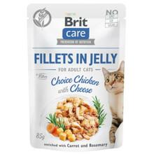 Brit Care Cat Pouch, Kurczak w galaretce - mokra karma dla kota, saszetka 85g