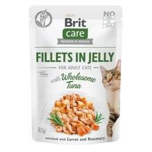 Brit Care Cat Pouch, Tuńczyk w galaretce - mokra karma dla kota, saszetka 85g