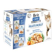 Brit Care Cat Pouch, Kawałki mięsa w galaretce - mokra karma dla kota, pakiet