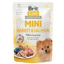 BRIT CARE MINI POUCH RABBIT & SALMON - Mokra karma dla psów ras małych, saszetka 85g