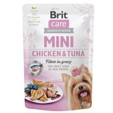 BRIT CARE MINI POUCH CHICKEN&TUNA - Mokra karma dla psów ras małych, saszetka 85g