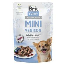 BRIT CARE MINI POUCH VENISON - Mokra karma dla psów ras małych, saszetka 85g