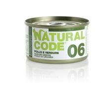 NATURAL CODE 06 puszka 85g kurczak i warzywa, mokra karma dla kota