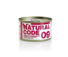 NATURAL CODE 09 puszka 85g tuńczyk i krewetki, mokra karma dla kota