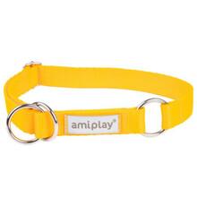 AMIPLAY Obroża półzaciskowa Samba dla psa, kolor żółty