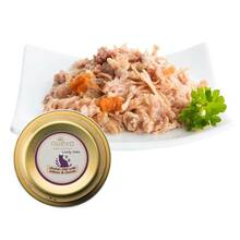 Nuevo adult chicken filet with salmon, carrots & salmon oil - karma dla dorosłych kotów, tacka 85g