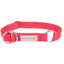 AMIPLAY Obroża półzaciskowa Samba dla psa, kolor czerwony