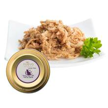 Nuevo adult turkey filet with tuna, catnip & linseed oil - karma dla dorosłych kotów, tacka 85g