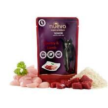 Nuevo Cat Poultry and Lamb Senior - karma dla kotów seniorów, drób i jagnięcina z ryżem, 85g