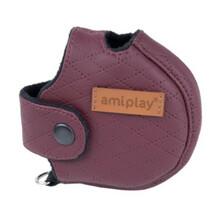 AMIPLAY Obudowa na smycz Cambridge Infini, kolor bordowy