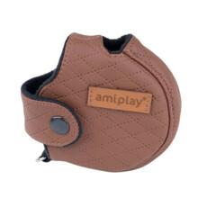 AMIPLAY Obudowa na smycz Cambridge Infini, kolor brązowy