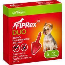 Fiprex Duo - krople przeciwko pchłom i kleszczom dla psów o wadze od 2 do 10 kg