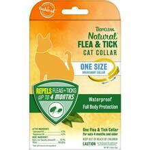 Tropiclean Natural Flea & Tick Cat Collar - wodoodporna obroża odstraszająca pchły i kleszcze, dla kotów powyżej 4 miesiąca życia