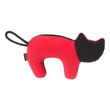 AMIPLAY Zabawka dla psa z piszczałką w czerwono czarnym kolorze