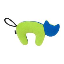 AMIPLAY Zabawka dla psa z piszczałką w zielono granatowym kolorze