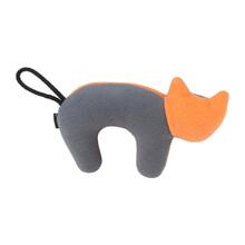 AMIPLAY Zabawka dla psa z piszczałką w szaro pomarańczowym kolorze