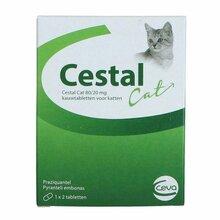 Cestal Cat Flavour - tabletki na odrobaczenie dla kotów, 2 tabletki