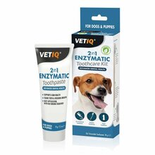 VetIQ 2in1 Denti-Care Set - zestaw do higieny zębów i dziąseł u psów i kotów
