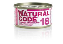 NATURAL CODE 18 puszka 85g makrela i szynka mokra karma dla kota