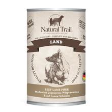 Natural Trail Land - Mokra karma dla psa z wołowiną, jagnięciną i wieprzowiną, 400g