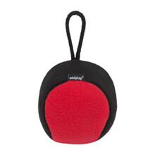 AMIPLAY Piłka dla psa z piszczałką w czerwono czarnym kolorze