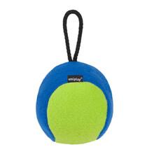 AMIPLAY Piłka dla psa z piszczałką w zielono granatowym kolorze