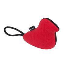 AMIPLAY Pluszowa zabawka dla psa w czarno czerwonym kolorze