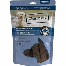Chewies Mini - przysmak dla psów, paski mięsne 100% ryby, 70g