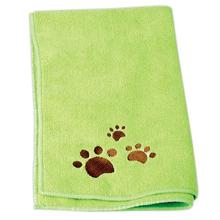 CHADOG - ręcznik z mikrofibry do kąpieli psów, 40 cm x 60 cm, zielony