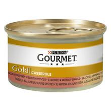Purina Gourmet Gold CASSEROLE kaczka i indyk - mokra karma dla kota, puszka 85g
