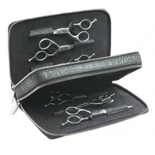 Sibel Scissor Accesory Case - saszetka, przybornik na 6 par nożyczek, kolor czarny