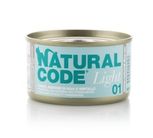 NATURAL CODE 01 light puszka 85g tuńczyk, jagody goi i żurawina, mokra karma dla kota